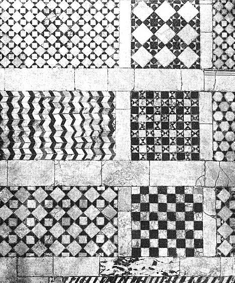 Storia dell 39 arte medievale pavimenti musivi figurati di for Mosaici in marmo per pavimenti