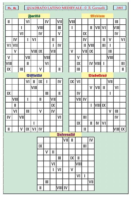 Sudoku Medium Enigmi medievali, Quad...