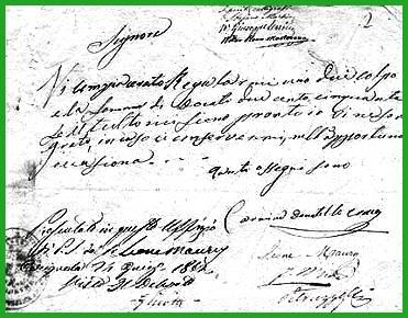 una lettera-ricatto del famoso Generale