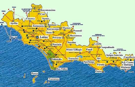 ... Mondi medievali ® Castelli italiani ® Lazio ® Provincia di Latina