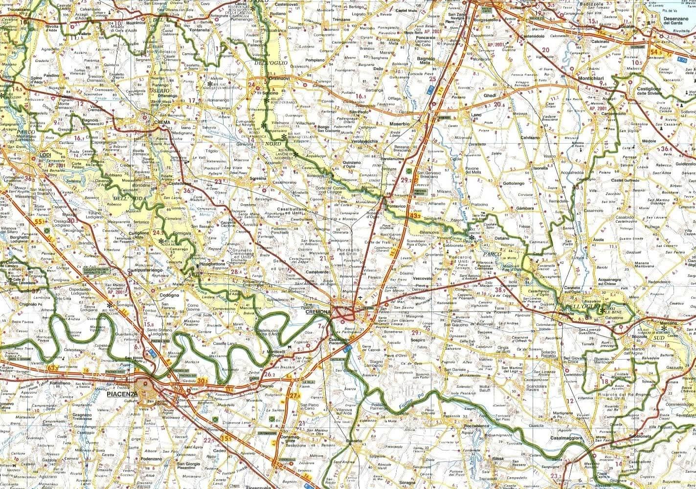 Cartina Geografica Provincia Di Cremona.Castelli Della Lombardia Provincia Di Cremona