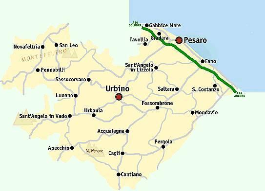 Cartina Geografica Provincia Di Pesaro Urbino.Castelli Italiani Castelli Delle Marche Provincia Di Pesaro Urbino