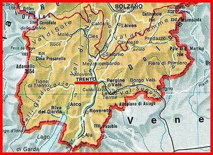 Cartina Geografica Trento.Castelli Della Provincia Di Trento Pagina 1 Castelli Del Trentino Alto Adige