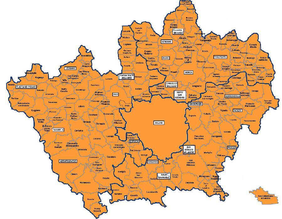 Castelli della lombardia provincia di milano for Negozi arredamento milano e provincia